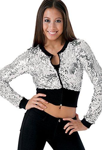Balera Dance Crop Jacket Ultra Sparkle Zip Front ()