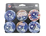WinCraft NFL New York Giants WCR97962701 Round Button (6 Pack), 2""