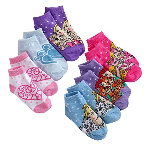 Disney Princess Palace Pets Toddler 2T-4T 6-pack ankle socks for $<!--$10.95-->