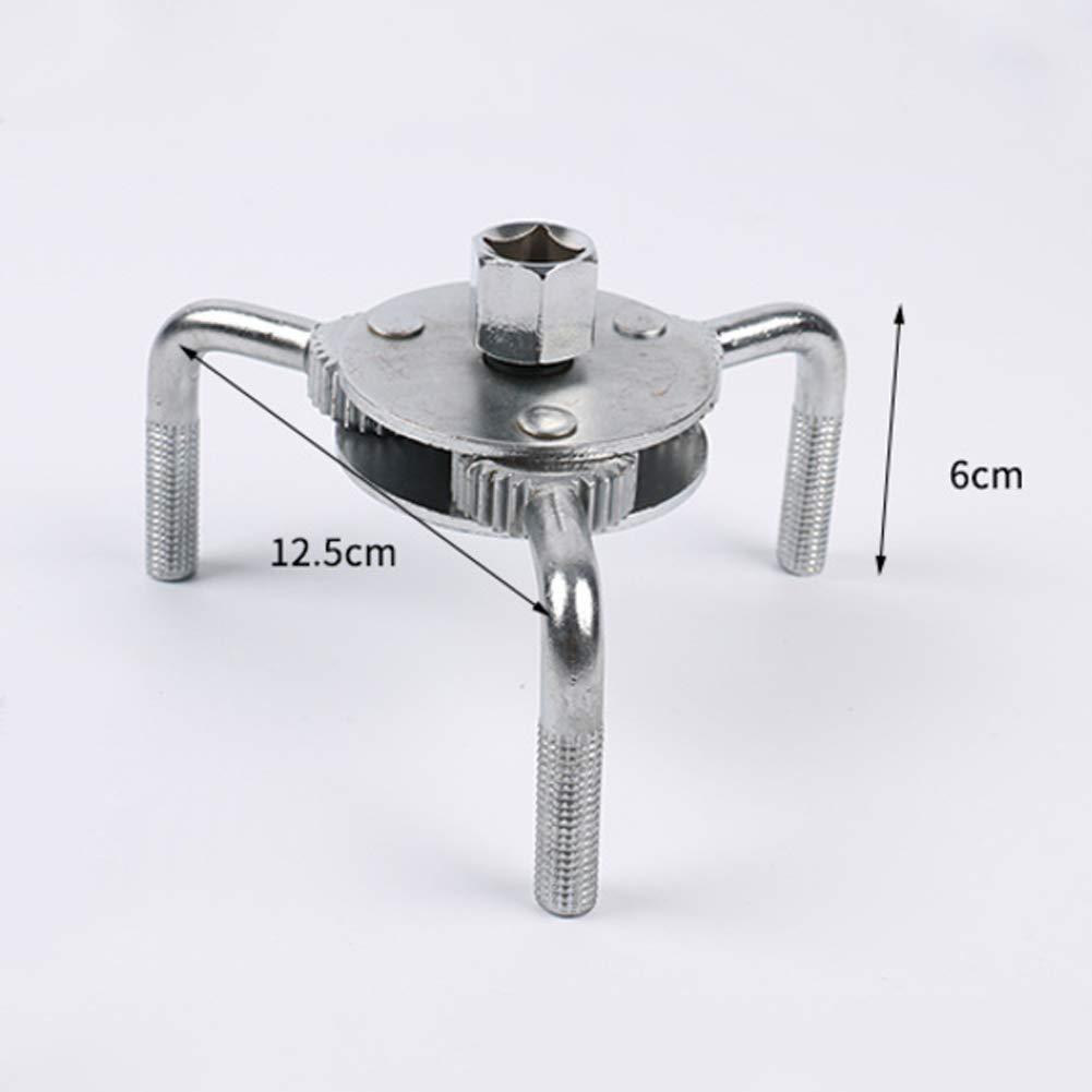 herramienta universal de extracci/ón de llave de filtro de aceite de tres garras de 2 maneras ajustables y resistentes CplaplI Herramientas de reparaci/ón de mantenimiento de autom/óviles
