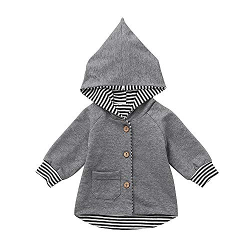Free Tommy Shipping Gift Set (Keliay Clearance Sale Newborn Infant Baby Boy Girl Striped Sweatshirt Hoodie Cardigan Coat Clothes)