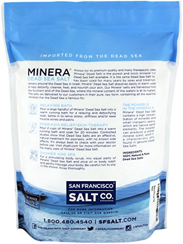 Minera Dead Sea Salt, 20lbs Fine. 100% Pure and Certified. Natural treatment for psoriasis, eczema, acne and more by Minera (Image #5)