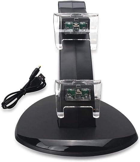 ZUZU Estación de Acoplamiento del Cargador de Carga Soporte para Playstation 4 PS4 / PS4 Pro / PS4 Slim Controller 3 en 1 USB Base de Carga Dual para Xbox One: Amazon.es: