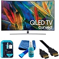 Electronics QN55Q7C Curved 55-Inch 4K Ultra HD Smart QLED TV (2017 Model) Bundle - HDMI 2.0 Cable, Surge Protector , Cleaning Kit