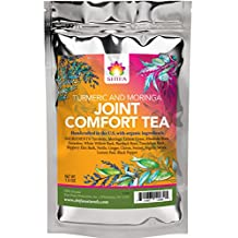 Shifa Joint Comfort Tea (Turmeric and Moringa): Improve Flexibility and Painful Joints with with Herbs, Phytonutrients and Antioxidants — 1.5 oz.