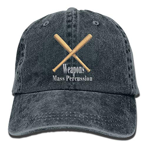 Maple leaf yu Weapons of Mass Percussion Drum Sticks Denim Hat Female Plain Baseball Caps