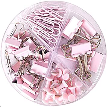 175 Paperclips Office Paper Clip File Documet COLOR Holder Metal Wire Stationery