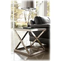 Nickel Color Square End Table - Signature Design by Ashley Furniture