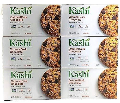 Kashi Oatmeal Dark Chocolate TLC Cookies 8.5 oz. (Pack of 6) ( Value Bulk Multi-pack)