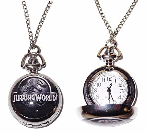 (New Horizons Production Jurassic World Dinosaur Pendant Pocket Watch)