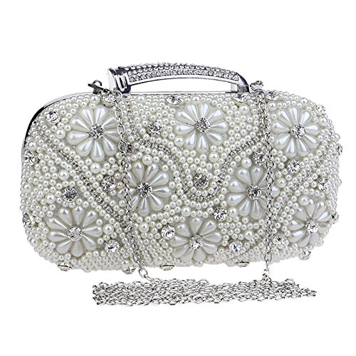Clutch Diagonal Dinner Silver Shoulder Exquisite Ladies' Pattern Luxurious Bag nwXxqqY41