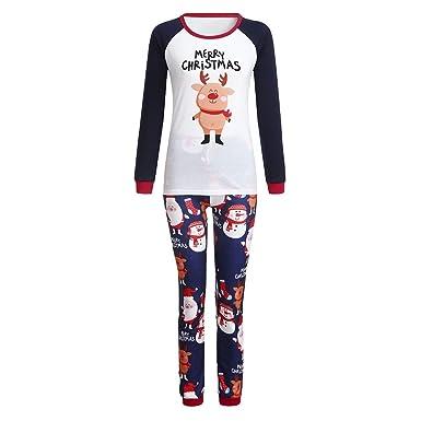 c88ed8843d80b Pitashe Pyjama de Noel Famille Pyjama Vêtements de Famille Mère Garçon Fille  du Nouveau-né Bébé Pyjamas Pyjamas Deux Pièces à Manches Longues Top et ...
