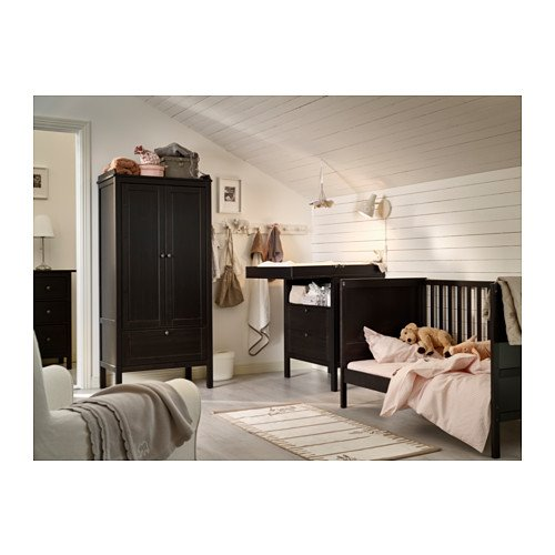 Amazon Com Ikea Sundvik Crib Black Brown Baby