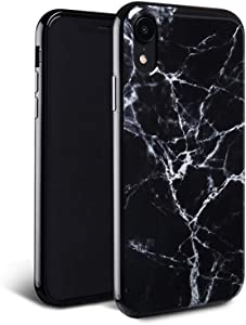 FELONY CASE iPhone XR Case - Black Polished Marble - 360° Shock Absorbing, Anti-Scratch, Protects Screen – Stylish Phone Case for Men & Women