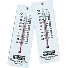 Learning Advantage 7632 Student Thermometers, Grade: 1 to 6 (Pack of 10)