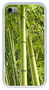 bamboo clothing TPU Silicone Case Cover for iPhone 4/4S White Halloween gift