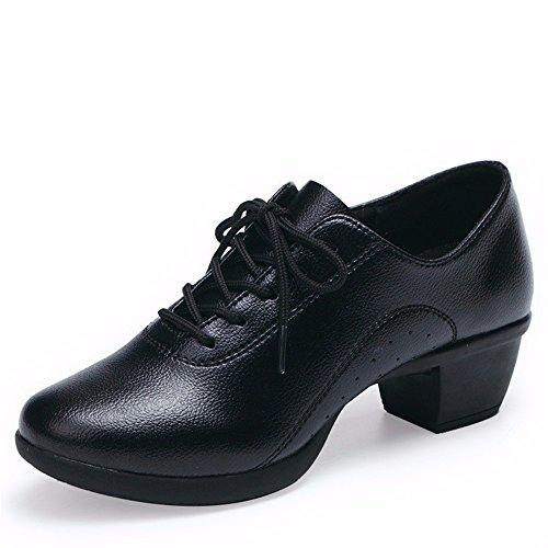SQIAO-X- Scarpe da ballo Kraft suola di gomma cinturino, Square Dance Dance Latina, Adulti Professional scarpe da ballo, bianco 39