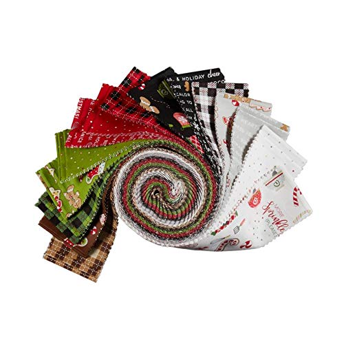 Maywood Studios We Whisk You A Merry Christmas!  2.5'' Strips Multi 40pcs by Maywood Studio