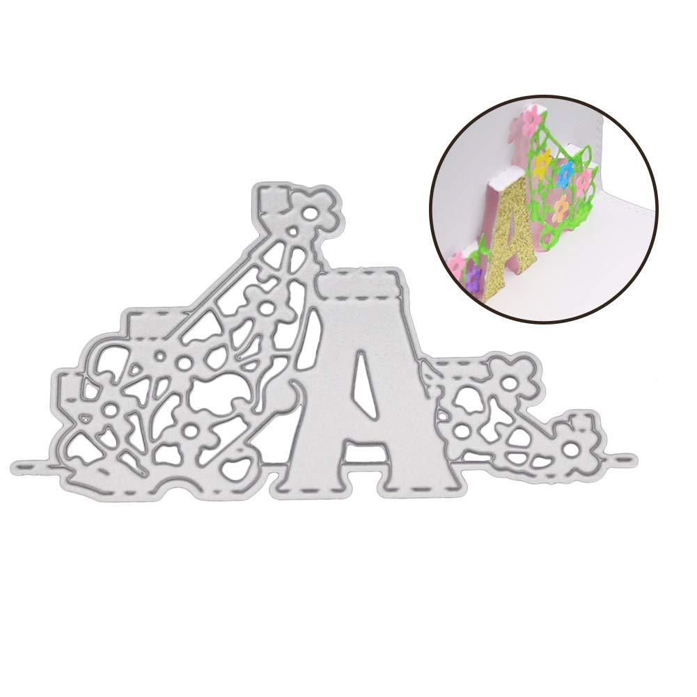album bricolage gaufrage Kuizhiren1 Matrice de d/écoupe en m/étal pour scrapbooking