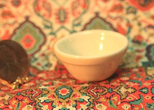 - Dollhouse Miniature Stoneware Look Mixing Bowl in Creme