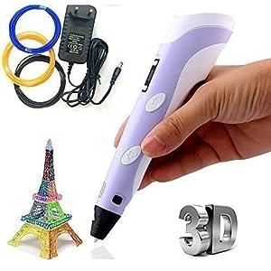 Marketworldcup - 3D Pen Kit - LED Screen, Starter Filamen for 3D Printing Pen -New 3D Printer Pen
