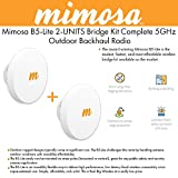 Mimosa Networks B5-Lite Backhaul 5 Ghz 750+ Mbps 20 Dbi Integrated Antenna, 2 PACK