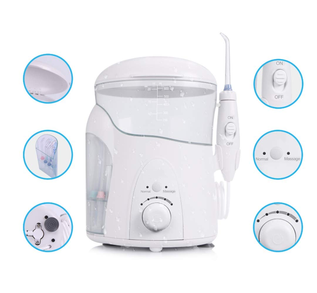 7 Heads USB Charging Water Flosser Power Floss,Electric Nasal Sinus Irrigation, Portable Oral Irrigator for Teeth Nasal Sinus of Family by DELOVE (Image #4)