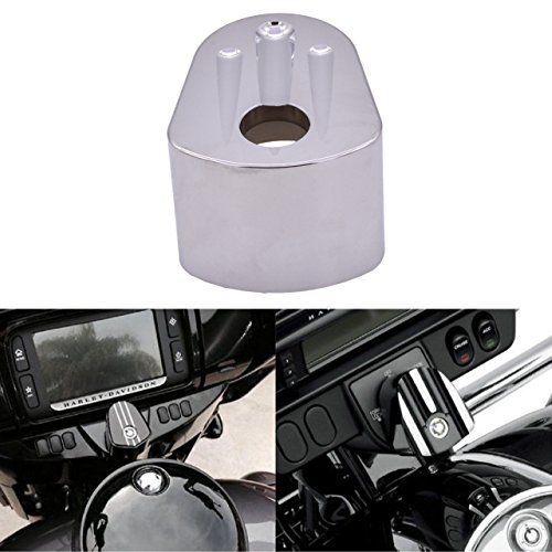 KaTur Silver Deep Cut Ignition Switch Cover for Harley Electra Street Glide 2006-2013