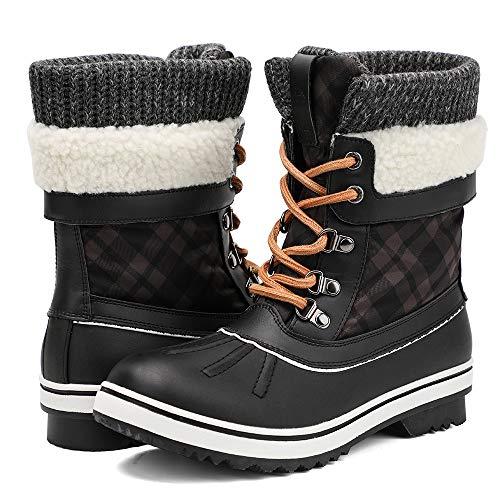 ALEADER Womens Fashion Waterproof Winter Snow Boots