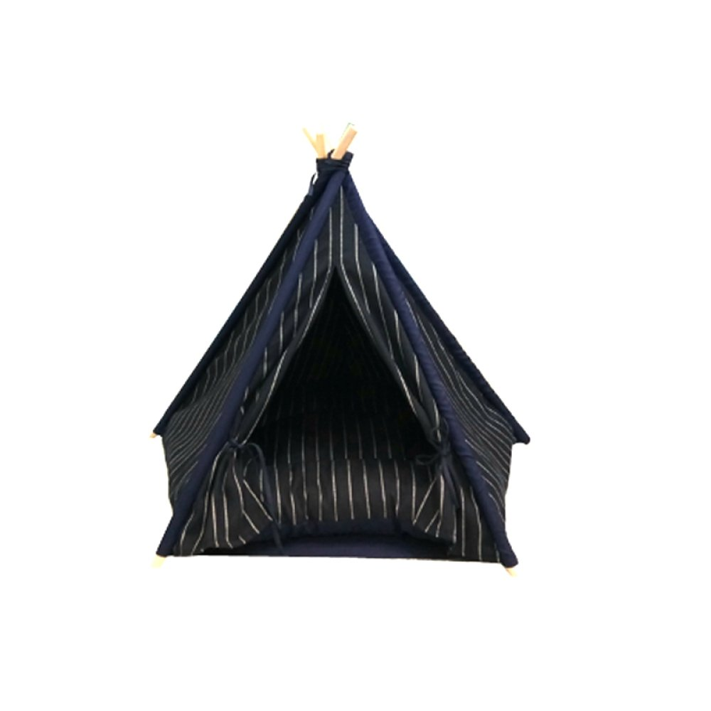 Large AYCC Dog Play Tent, Striped Pet Kennel Tent, Pet Play House, Washable, Cat dog Bed, Pet Supplies,L