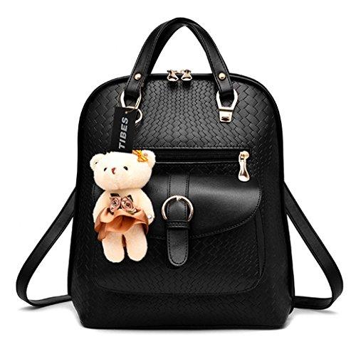 Tibes Waterproof Mini Cute Backpack Shoulder Bag Girls Women Daypack Black