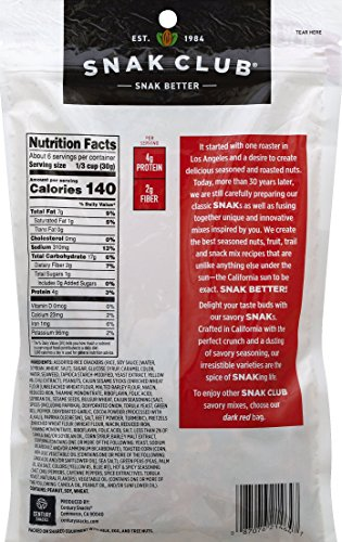 Snak Club Spicy Party Snack Mix, 6.75-Ounces, 6-Pack by Snak Club (Image #1)'