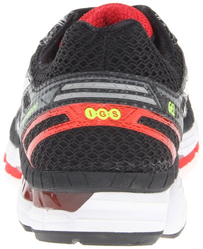 Asics - Zapatillas de running para hombre - Black/Lightning/Red Pepper