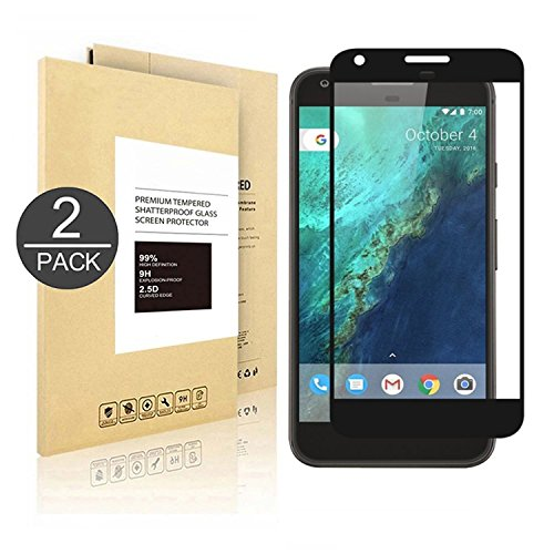 Google Pixel Screen Protector [5.0],[2 Pack] Linboll Tempered Glass Full Coverage HD Ultra Clear Film Edge to Edge Protection Shield Screen Protector for Google Pixel