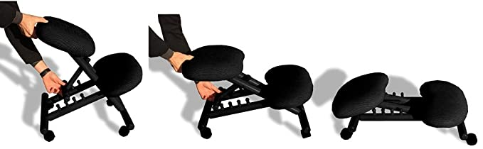 Cinius Silla ergonómica profesional color negro sin respaldo: Amazon.es: Hogar