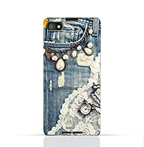 BlackBerry Z30 TPU Silicone Case With Modern Jeans Pattern