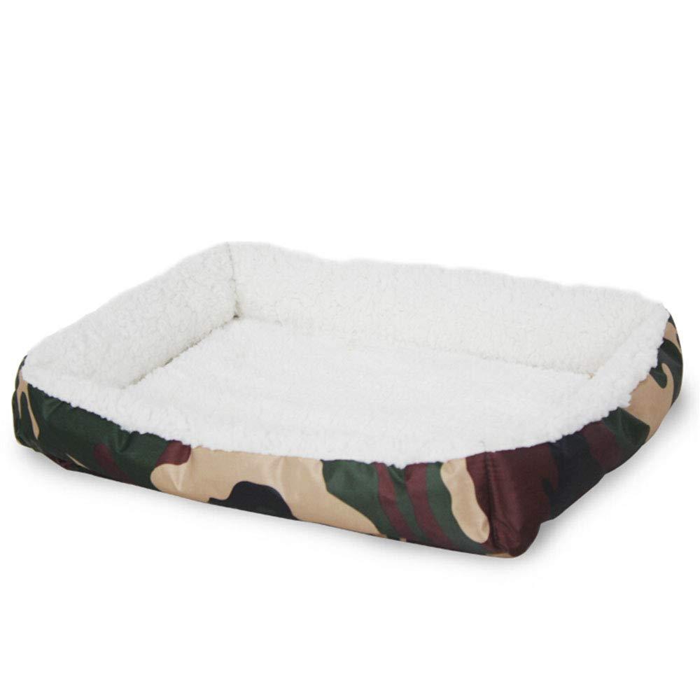 B Xiao Jian Pet Nest  Kennel Cat Nest Dog Mat Lamb Fluffy Teddy Small Dog Pet Dog Cat Mat Puppy Puppies Supplies  45CMX35CM pet Bed (color   A)