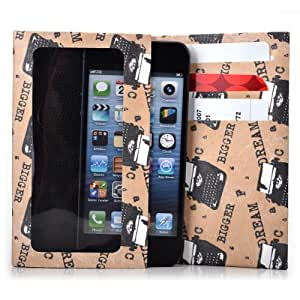 Tyvek Wallet for Smartphones - Alcatel OT-308 (Bar phobe) Paper Wallet (Tan Dream Bigger)