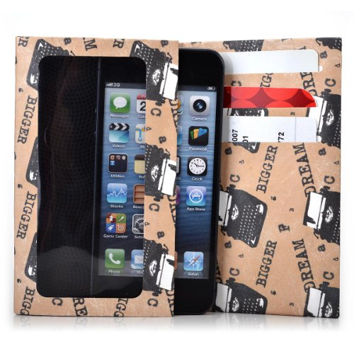 Kroo Bifold Tyvek Wallet with Smart Phone Compartment fits