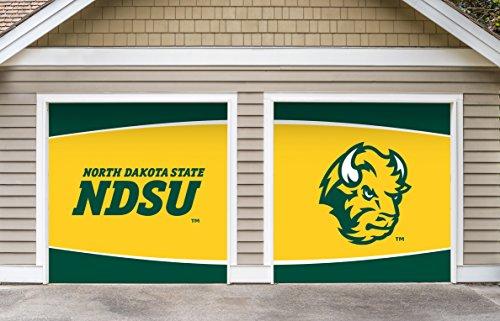 (Victory Corps 7' X 8' Split Garage Door Decor Banner Sign Mural North Dakota State Bison - NDSU )