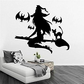 yanqiao Halloween Serie Hexe Wandtattoo für Wohnzimmer ...