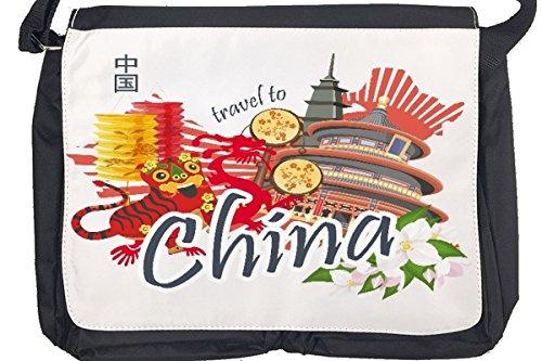 Borsa Tracolla Giramondo Cina Stampato