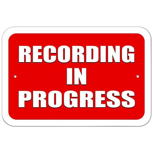 Plastic Sign Recording Progress 15 3cm