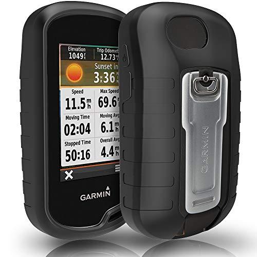 TUSITA Case for Garmin Oregon 600 600t 650 650t 700 750 750t - Silicone Protective Cover - Handheld GPS Accessories (Black) (650 Garmin Case)