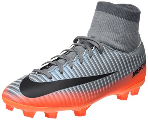 Nike Mercurial Victory Vi Dynamic Fit Cr7 FG, Botas de Fútbol Unisex Niños Varios colores (Cool Grey / Mtlc Hematite / Wolf Grey / Total)
