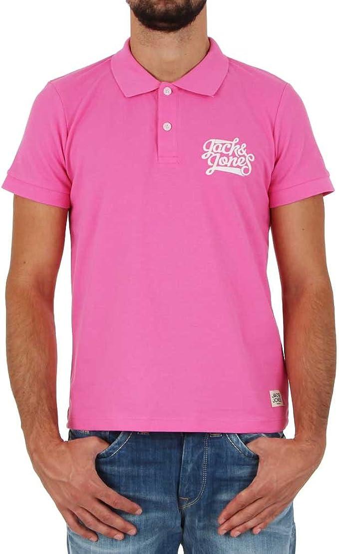 JACK & JONES - Polo - para Hombre Rosa Rosa: Amazon.es: Ropa y ...