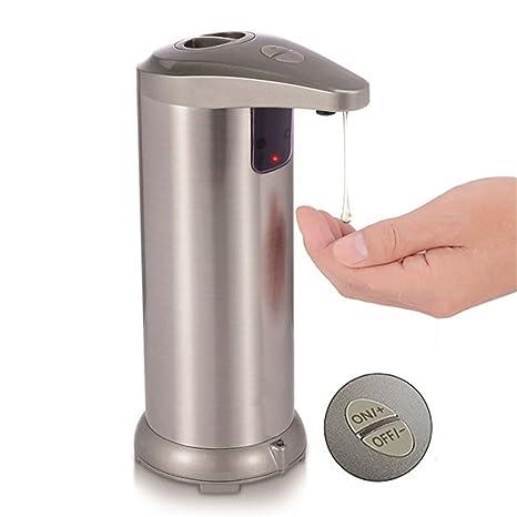 DULPLAY Acero Inoxidable Dispensador de jabón, Automático Touchless Manos Libres Sensor de Movimiento Líquido para