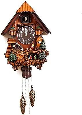 Amazon Com Rylai Vintage Wall Clock Handcrafted Wood