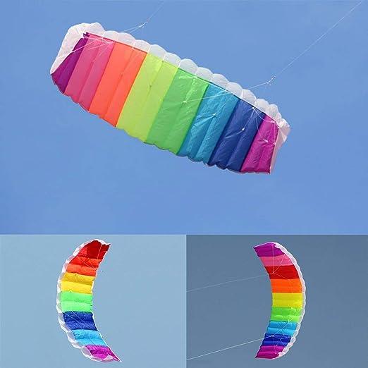 docooler 1.4/2/2,7 m de línea doble Kite - Cometa de arco iris sin ...