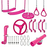 Swing Set Stuff Inc. Ultimate Kit (Pink) with SSS Logo Sticker